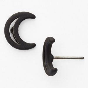 MARC JACOBS~black crescent moon~STUD EARRINGS~NWT